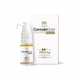 CANNABI GOLD CBD 1500mg olej konopny Premium 12ml